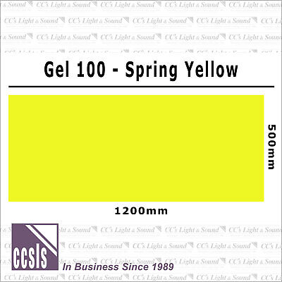 Clear Color 100 Filter Sheet - Spring Yellow