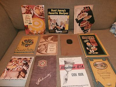 Vintage Lot of 11 Recipe Advertising Booklets 1920s-1940s