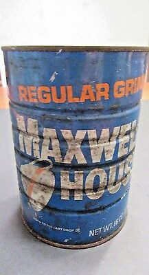 Vintage Maxwell House Coffee Tin REGULAR GRIND (open)