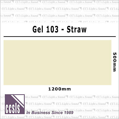 Clear Color 103 Filter Sheet - Straw