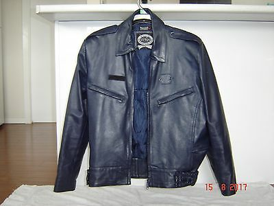 STAGG Leather Motorcycle Jacket Size M