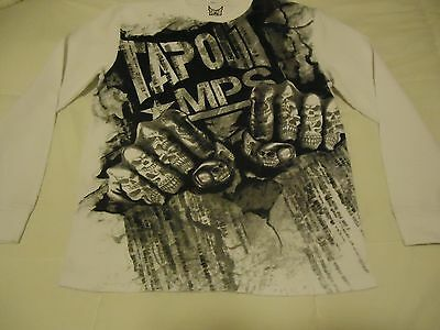 Tapout BRAND WHITE/BLACK THERNAL SHIRT SIZE XL