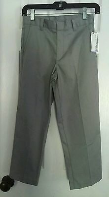 Boy's 8 Regular GEORGE School Uniform Flat Front Gray Chino Pants NWT'S