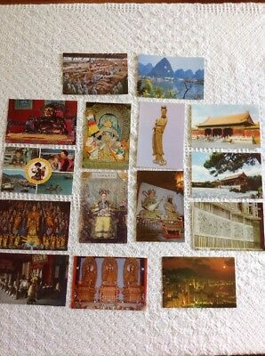 Vintage Postcards China Lot Of 15 Travel Asia
