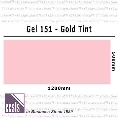Clear Color 151 Filter Sheet - Gold Tint