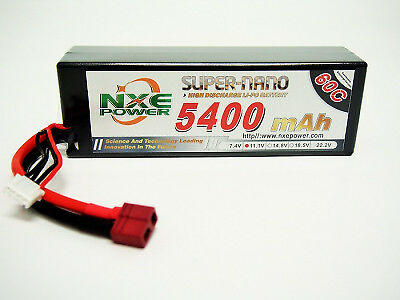 NXE 11.1V 3S 5400mah 60C Hardcase Lipo Battery with Deans  NXE5400HC603