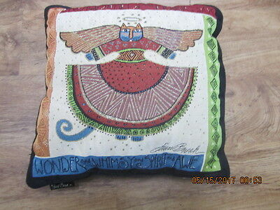 Laurel Burch Angelicat Angel Cats Square Decorative Tapestry Throw Pillow Nos