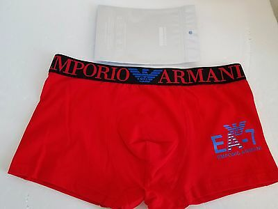 Men's Emporio Armani Red/black underwear trunk boxer size XL