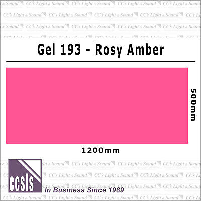 Clear Color 193 Filter Sheet - Rosy Amber
