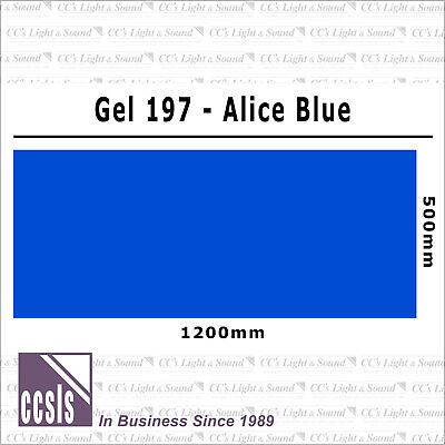 Clear Color 197 Filter Sheet - Alice Blue