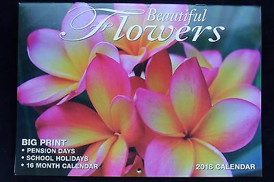 Beautiful Flowers 2018 Calendar - Big HD Print, Magnetic - Free and Fast Postage