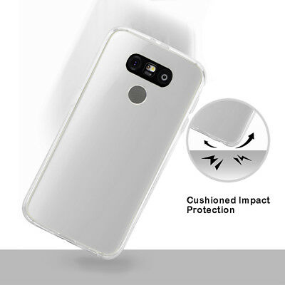 For LG G6 Clear Soft Rubber TPU Gel Cases Transparent Protective Covers