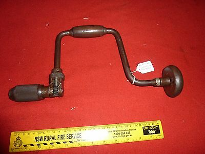 *RARE* Hand Drill Tool STANLEY No A144 Australia 12 in Brace Old Carpentry MKII