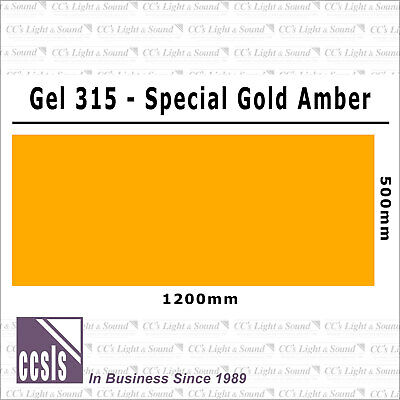 Clear Color 315 Filter Sheet - Special Gold Amber