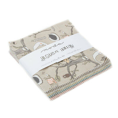 Patchwork/quilting Fabric Charm Squares - Moda Hushabye Hollow Cotton