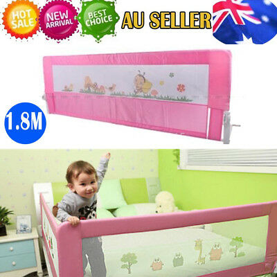 Pink Child Toddler 180cm Safety Bed Rail Baby Bedrail Fold Cot Guard Protection