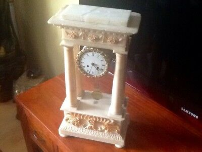 Antike Empire  Pendule ALABASTER  UHR  Ca 1840