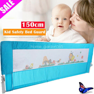 150cm Guard Protection Safety Child Toddler Bed Rail Baby Bedrail Fold Cot Blue