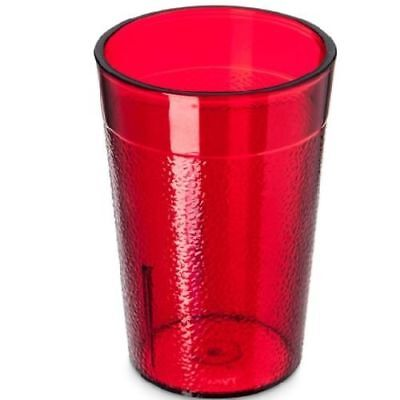 6 Pc 5 Oz BPA Free Dishwasher Safe Stackable Plastic Tumbler Glass Cup Set Red