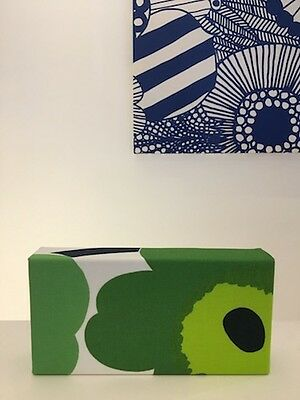 Marimekko Hand Made Unikko Green Fabric Panel Handy Size Interior Deco Finland