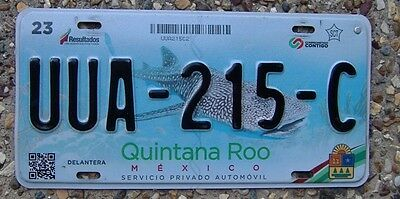 Quintana Roo State Mexican Number Plate
