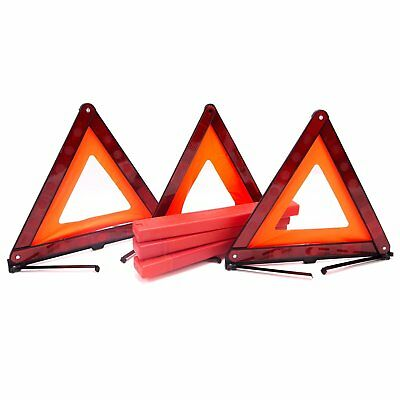 3 Pack Red Reflector Emergency Warning Triangle Safety Road Kit Car Vehicle N.