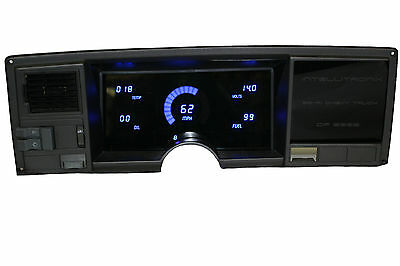 Chevy Truck DIGITAL DASH PANEL FOR 1988-1991 Gauges GMC Intellitronix BLUE LEDs