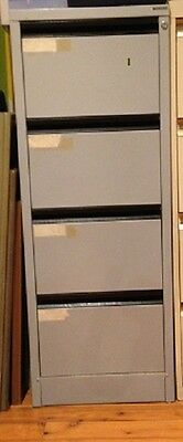 Filing Cabinet, metal, grey, 4 drawer, used, with normal wear and tear, brand na