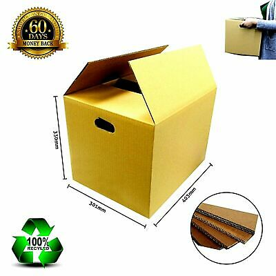 20 X 70L Moving Packing Cardboard Boxes Removalist With Handles - Strong Carton