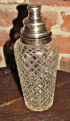 antique hawkes sterling silver and crystal martini cocktail shaker delft diamond