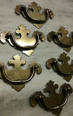 Vintage BRASS drawer pulls handles