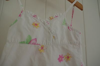 ( preloved kids ) Pumpkin Patch Girls Size 7 Summer Top White Floral Frill Front