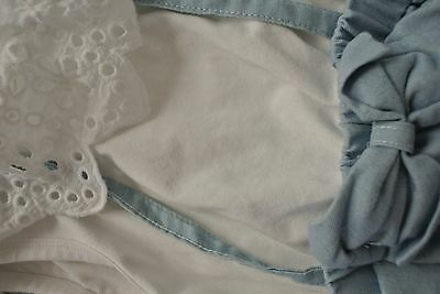 ( brandnew without tag ) Baby Show Size 1 Summer Dress Lace Denim Bow at Front
