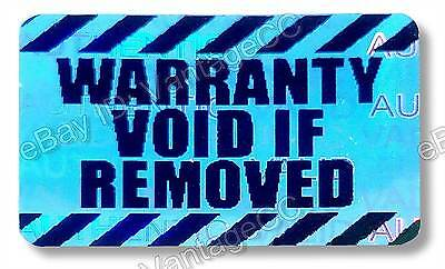 WARRANTY VOID IF REMOVED Hologram Stickers Labels, 30mm x 20mm Silver, VOID