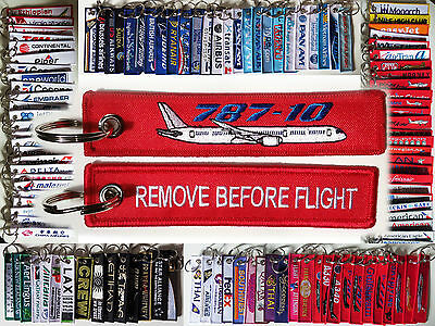 Keyring Dreamliner BOEING 787-10 in red Remove Before Flight keychain Pilot Crew