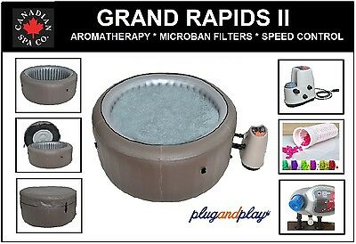 THE ALL NUEVO 2017 GRAND RAPIDS II Inflable JACUZZI - 4 personas Portátil Spa