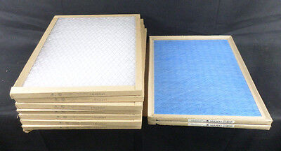 "Lot of 9 Various Mfg. 16"" X 20"" X 1"" Disposable Air Filters"