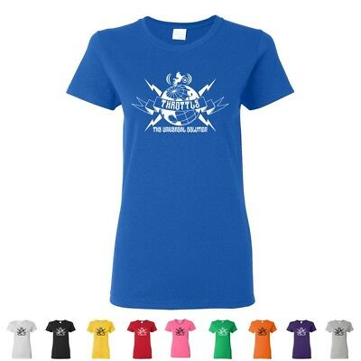 Throttle The Universal Solution Funny Ladies Tees Off Road Dirt Womens T-Shirts
