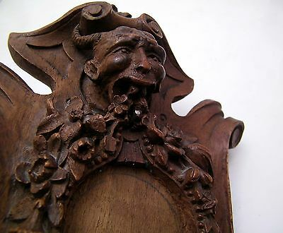 Devil Demon Satan Black Forest German Hand Carved Pocket Watch Holder - Only 1
