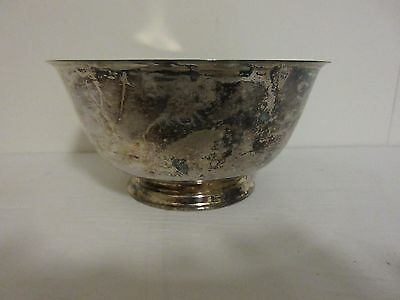 Paul Revere Repro Oneida Round Footed Bowl Silverplate