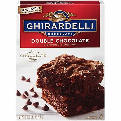 4 Pack - Triple Chocolate Choc Chip Premium Brownie Mix by Ghirardelli - 2kg