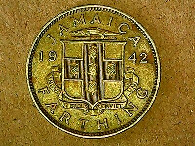Jamaica Farthing 1942  Great Condition
