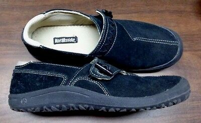 Northside men's 8 casual shoes Black, suede leather, A+