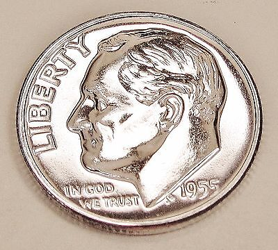 1955   Proof   Dime  90%  Silver  >Exact  Coin  Pictured <    #815   32