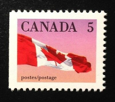 Canada #1185i Left CPP 13.3x14.0 MNH, Canada Flag Booklet Stamp 1990