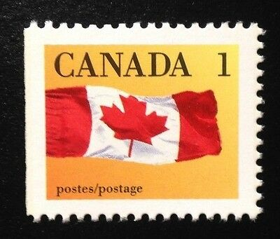 Canada #1184i Left CPP 13.3x14.0 MNH, Canada Flag Booklet Stamp 1990