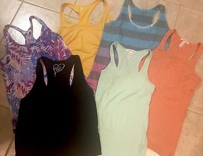 Lot Of 6 Women's Racer Back Tanks