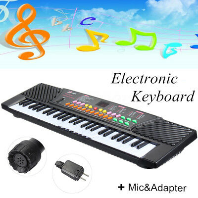 New 54 Keys Electronic Keyboard Kid Electric Piano Music Toy With Mic&Adapter