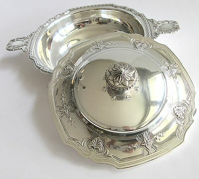 Tiffany & Co. Sterling Silver Covered Bowl Serving Dish 1917
