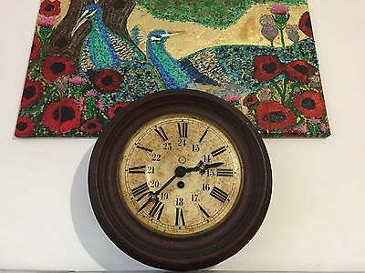 Antique French metal wall clock - original - Antique French